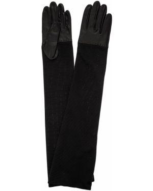 Перчатки длинные черные Eleganzza