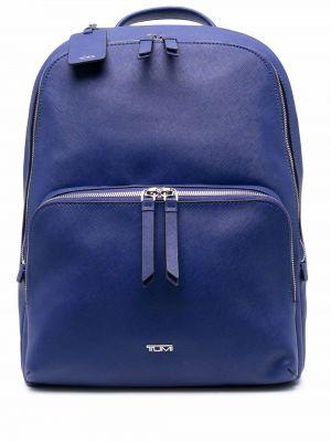 Niebieski plecak srebrny Tumi