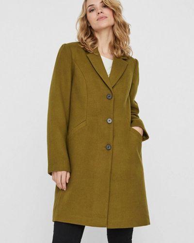Зеленое пальто Vero Moda