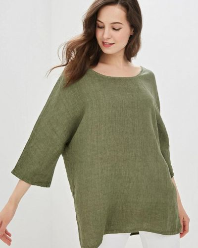 Блузка с коротким рукавом зеленый итальянский Perfect J