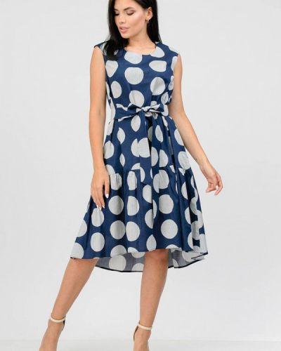 Синее платье осеннее Raslov