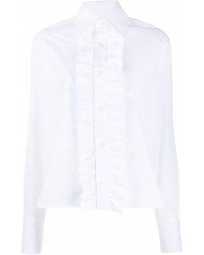 Klasyczna biała koszula nocna Saint Laurent
