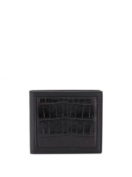 Czarny portfel skórzany Ermenegildo Zegna