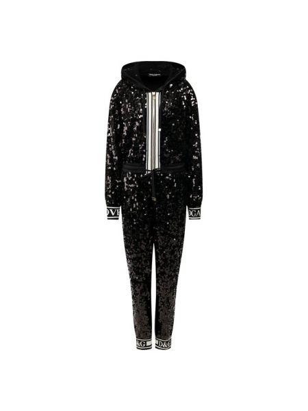 Комбинезон с капюшоном с манжетами с пайетками Dolce & Gabbana