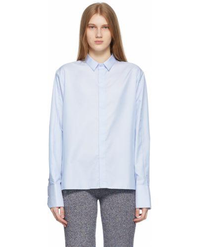 Niebieska koszula oxford bawełniana z długimi rękawami Ader Error
