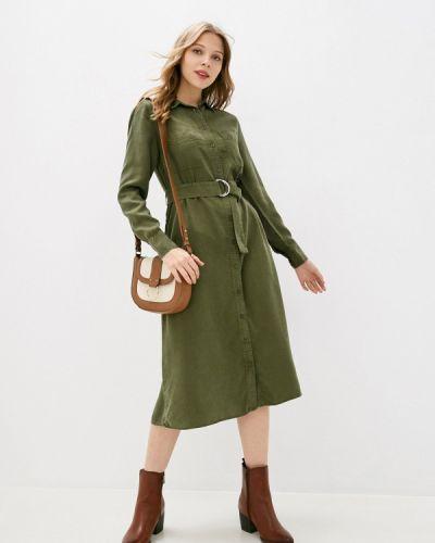 Зеленое платье-рубашка Marks & Spencer