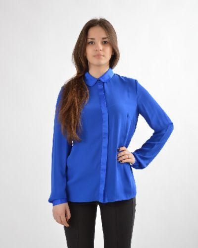 Блузка прямая синяя Bestia