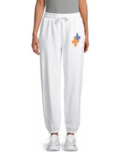 Белые брюки на резинке с манжетами Eleven Paris