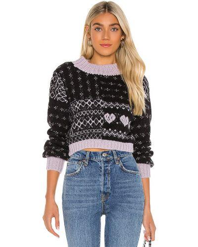 Z onyksem czarny pulower z alpaki bezpłatne cięcie Free People
