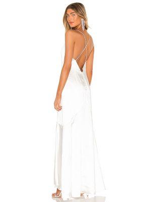Платье атласное - белое Elliatt