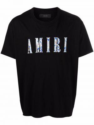 Черная хлопковая футболка Amiri