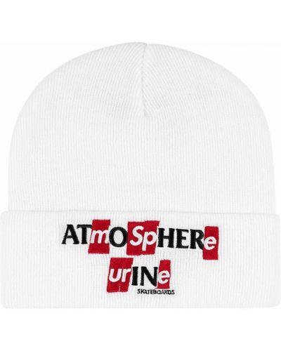 Biała czapka z akrylu Supreme