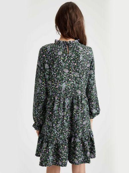 Платье с воротником из вискозы Defacto