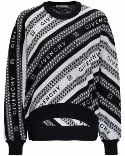 Sweter oversize - biały Givenchy