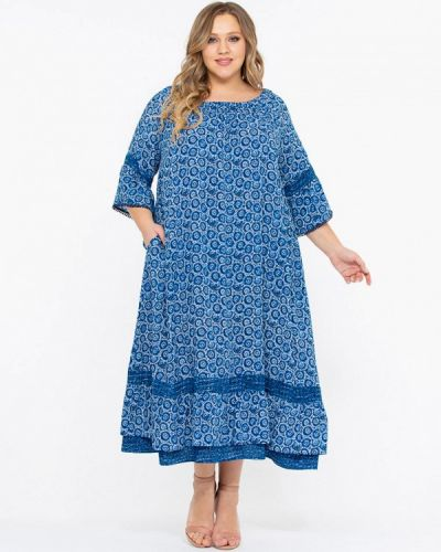 Повседневное платье весеннее синее Intikoma