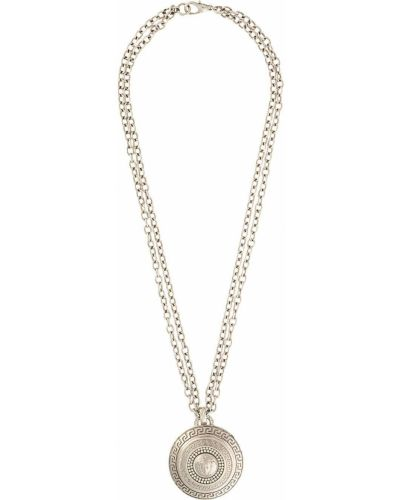 Серебряная цепочка металлическая Versace Pre-owned