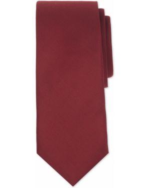 Галстук узкий бордовый красный Henderson