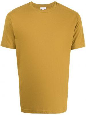 Желтая футболка короткая Sunspel