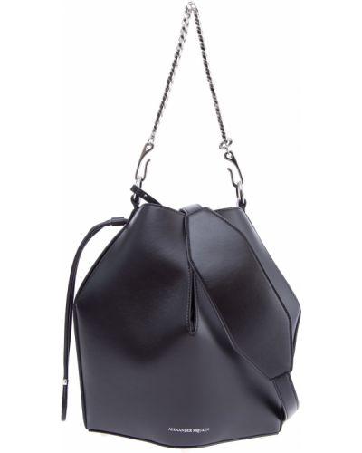 Сумка на цепочке сумка-мешок кожаный Alexander Mcqueen