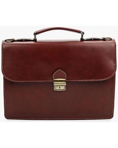 Коричневый кожаный портфель Roberta Rossi