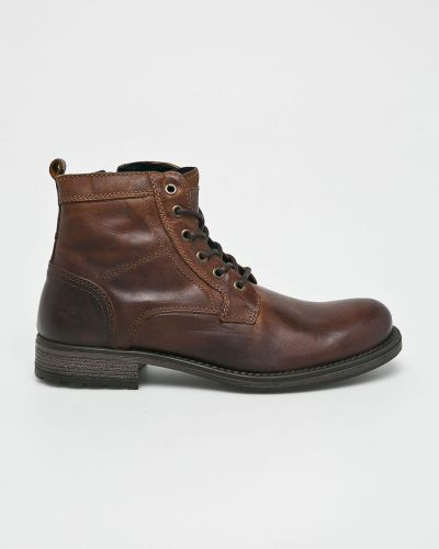 Кожаные ботинки на шнуровке высокие Mustang