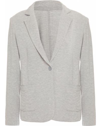 Трикотажный серый пиджак с накладными карманами Majestic Filatures