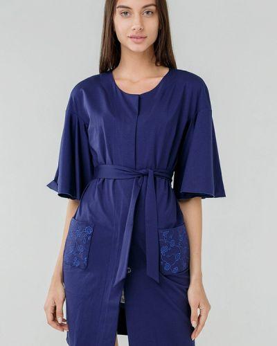 Синий халат домашний Ora