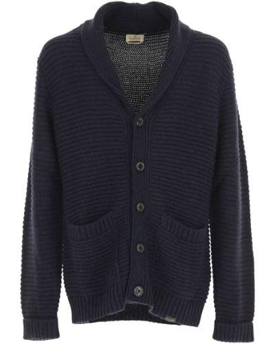 Sweter z akrylu zapinane na guziki z długimi rękawami Brooksfield