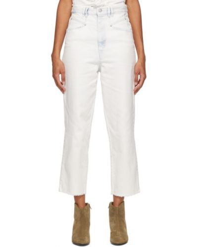 Prosto niebieski jeansy na wysokości z kieszeniami Isabel Marant