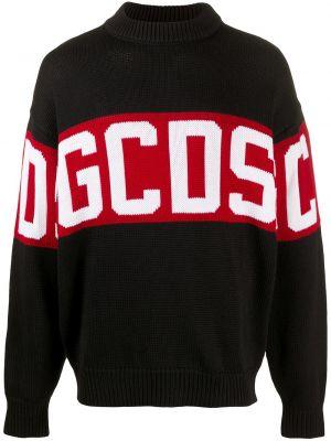 С рукавами черный джемпер с вырезом Gcds