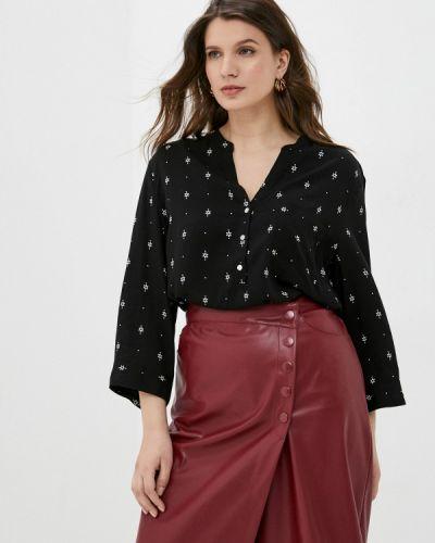 Черная блузка с длинными рукавами Rosa Thea