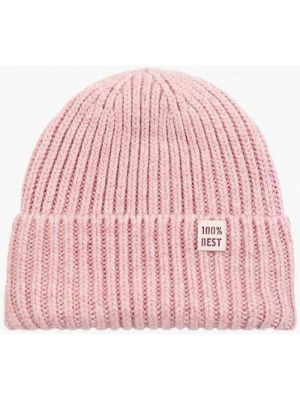 Розовая демисезонная шапка Ferz