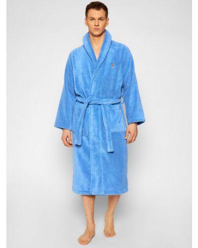 Niebieski szlafrok Polo Ralph Lauren