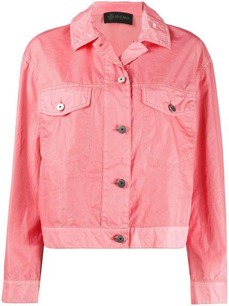 Джинсовая куртка розовая итальянский Mr & Mrs Italy