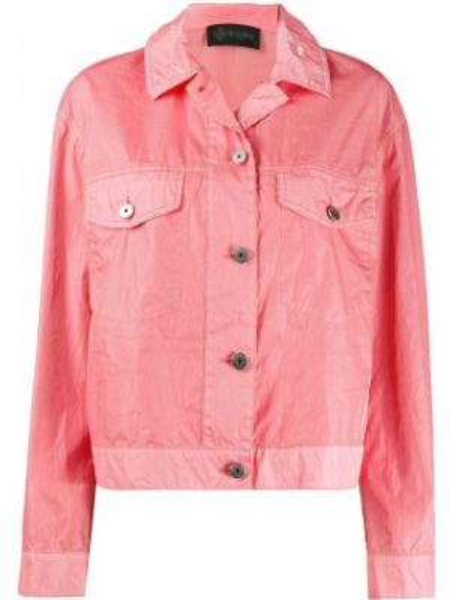 Хлопковая джинсовая куртка - розовая Mr & Mrs Italy