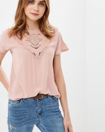 Блузка с коротким рукавом розовый Only