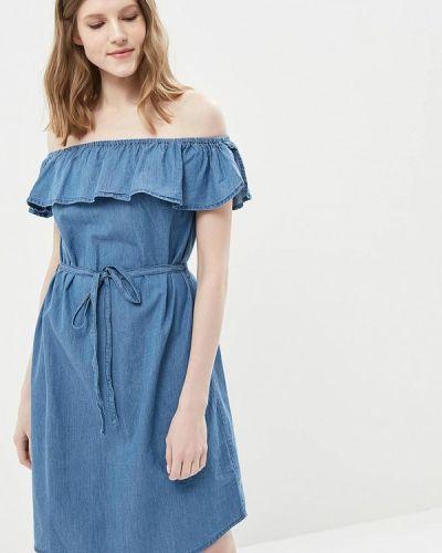 Синее платье весеннее Modis