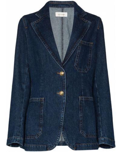 Хлопковая черная джинсовая куртка с карманами Wales Bonner