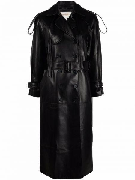 Черное пальто с воротником Matériel