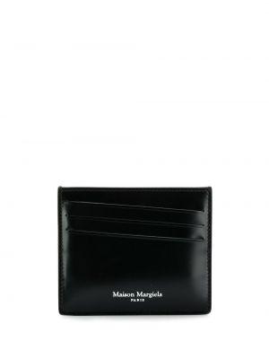 Wizytownik skórzany czarny Maison Margiela