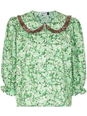 Zielona bluzka bawełniana Rixo