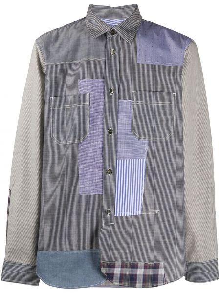 Koszula z długim rękawem klasyczna w paski Junya Watanabe Man