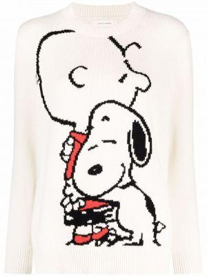 Бежевый вязаный длинный свитер круглый Chinti And Parker