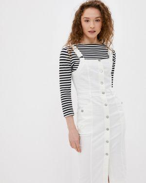 Белое платье футляр Softy