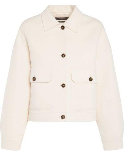 Шерстяная бежевая куртка с карманами Weekend Max Mara