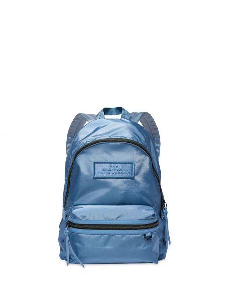 Z paskiem niebieski plecak przeoczenie z łatami Marc Jacobs