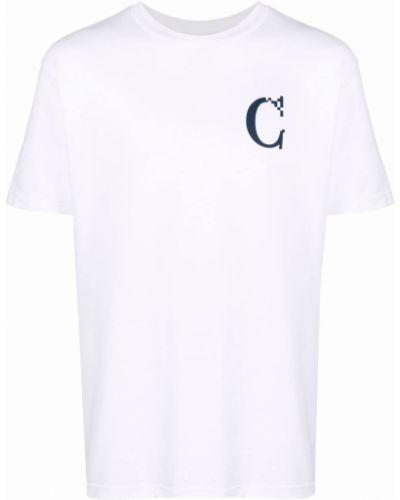 Biała T-shirt z nadrukiem z printem Carrots