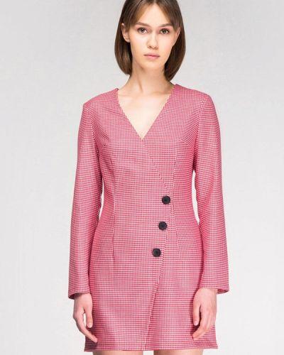 Однобортное розовое платье Musthave