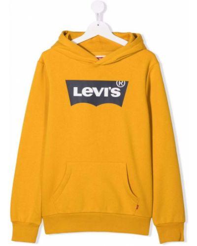 Żółta bluza z kapturem Levis Kids