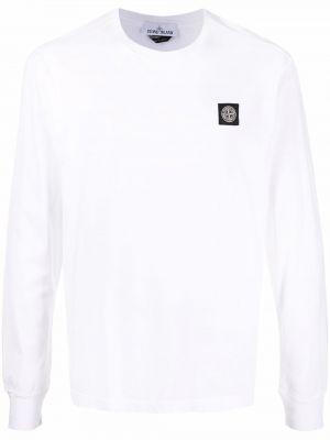 Biała koszulka bawełniana Stone Island